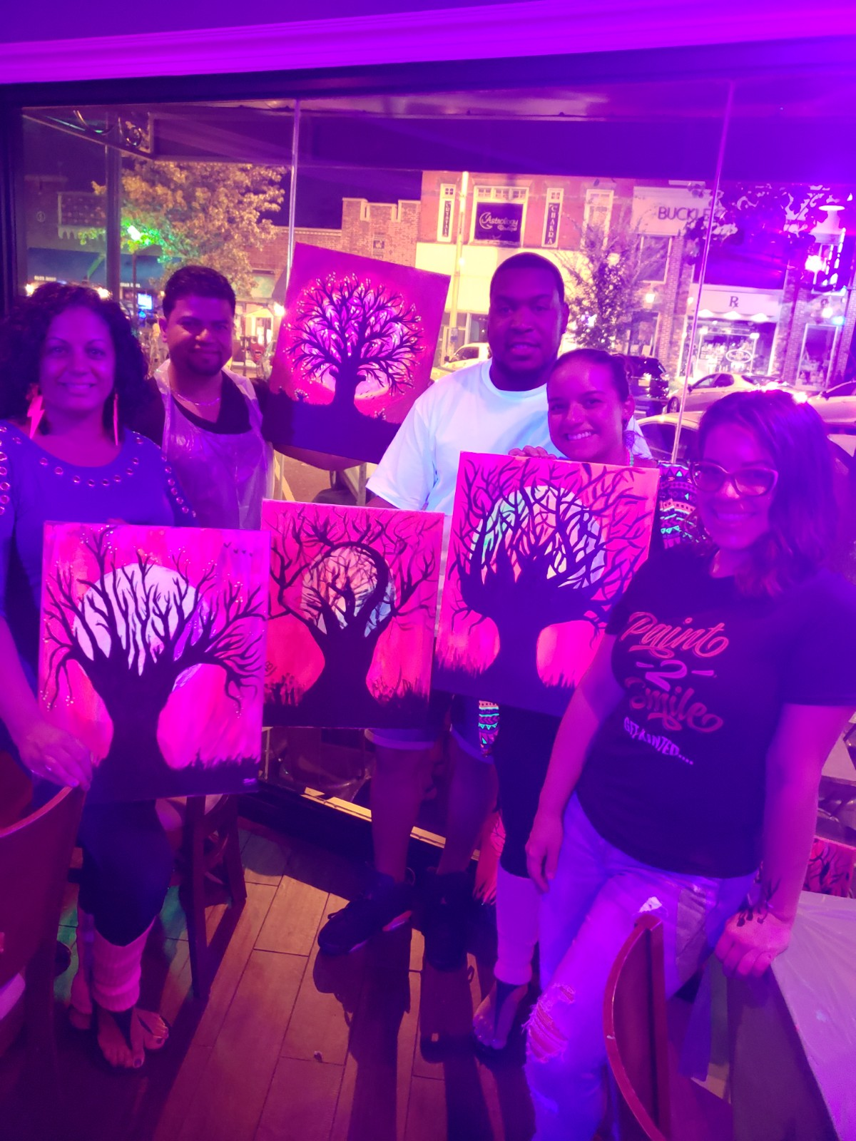 glow in the dark paint night