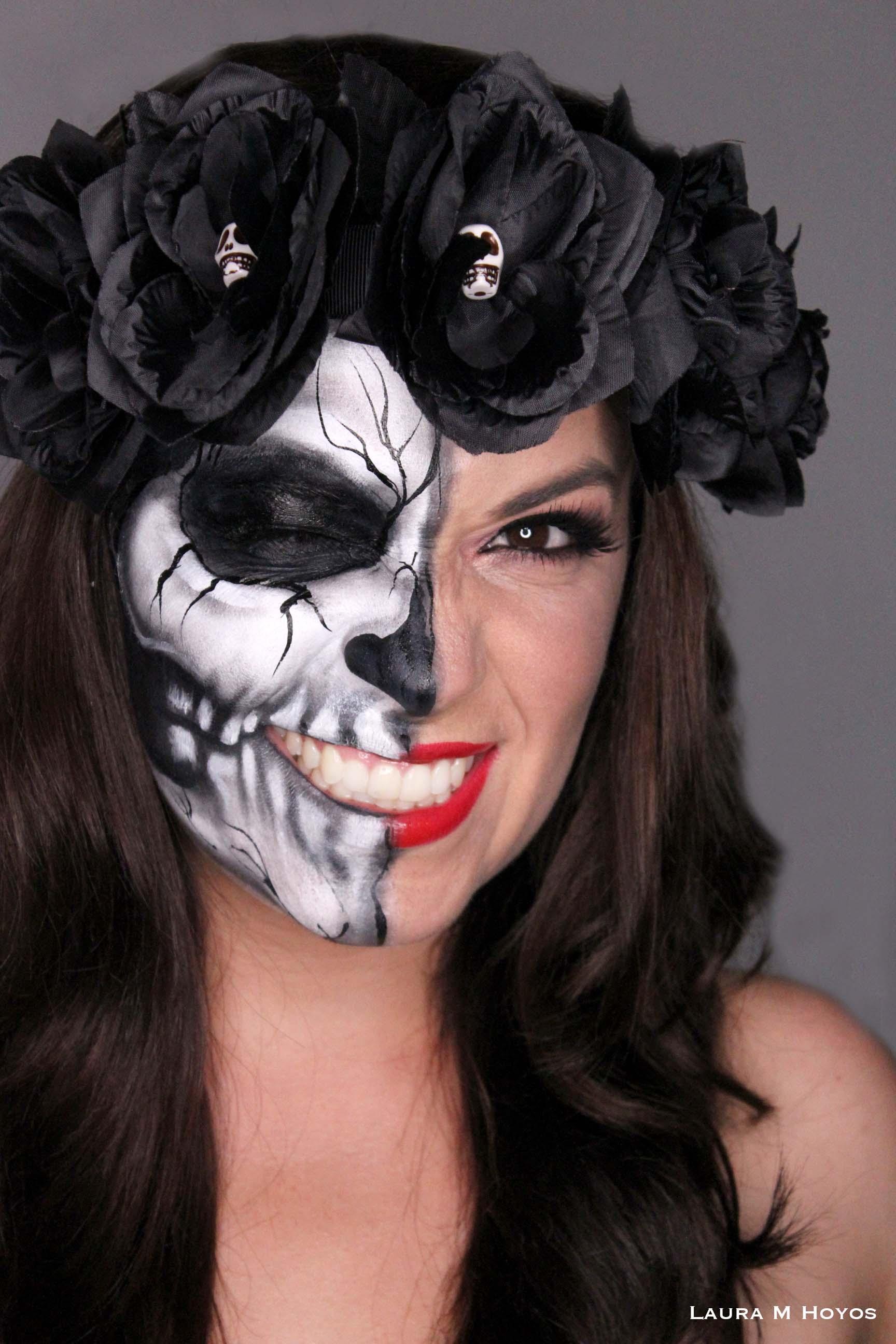 Face Paint Half Skull