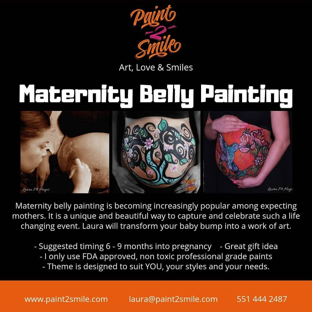 maternity belly painting bergen county new jersey