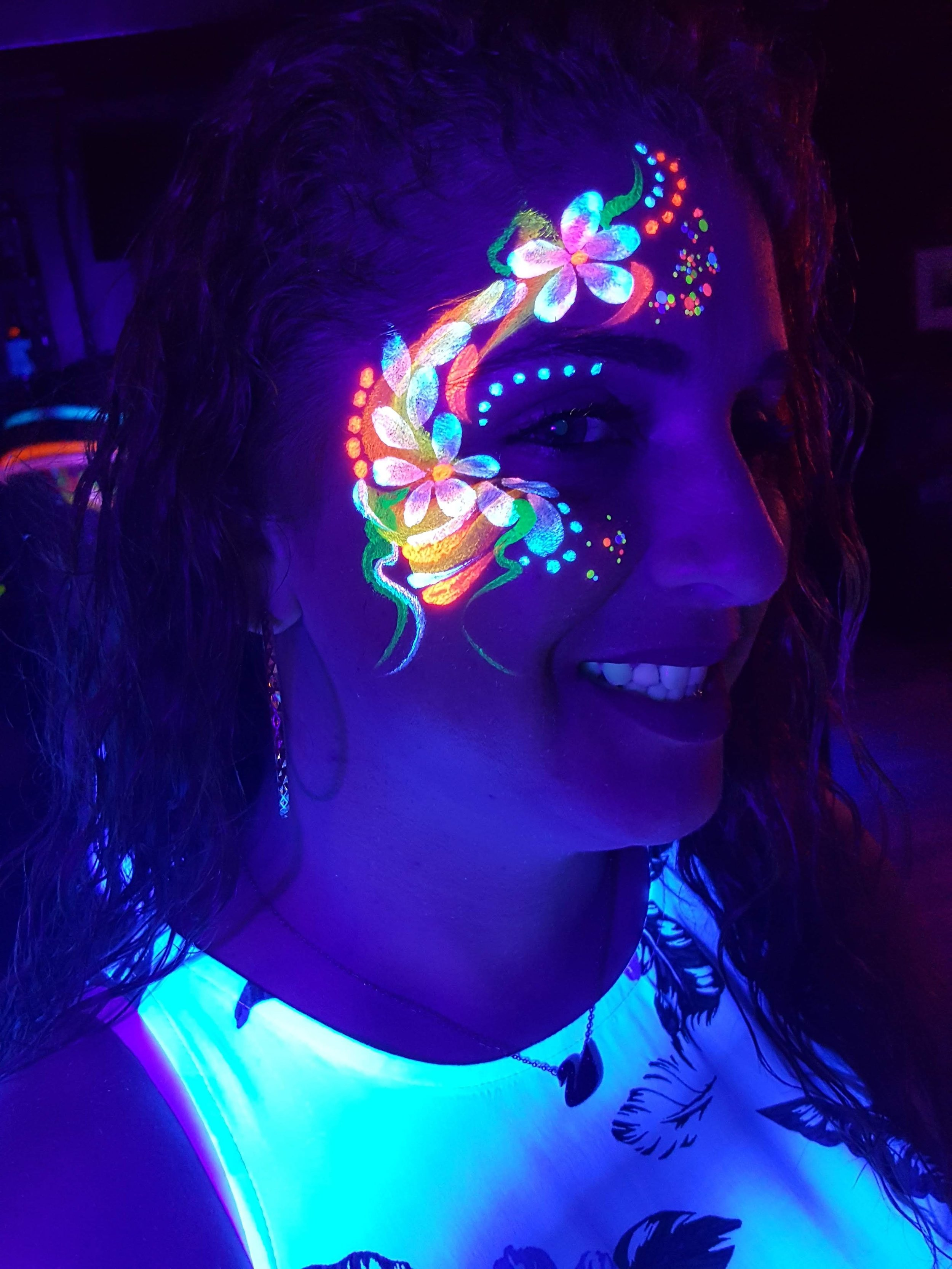 neon adult face painting