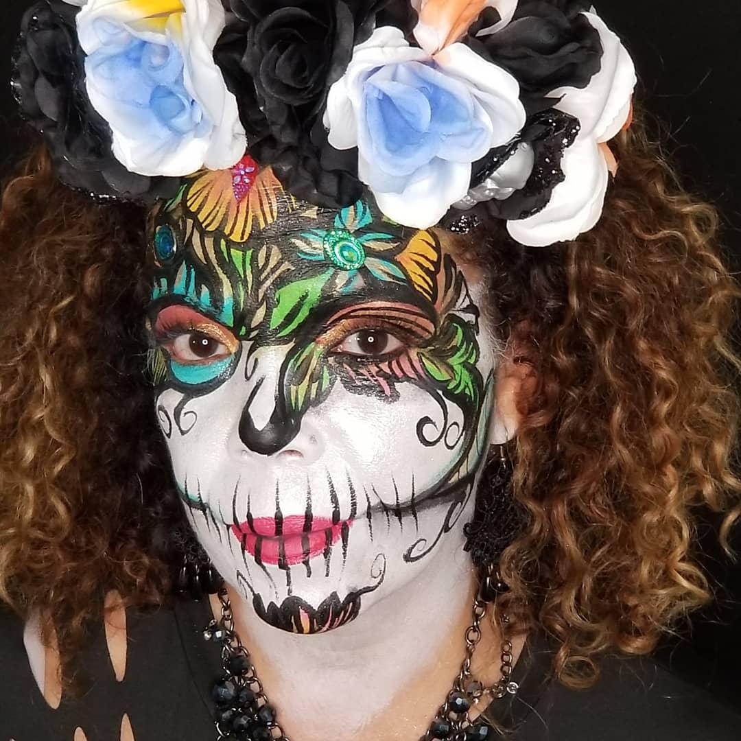 catrina/sugarskull face paint makeup