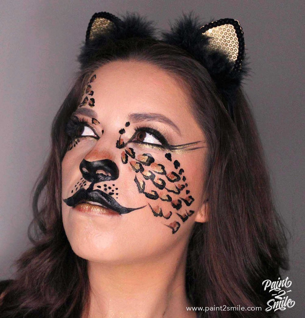 adult cheetah makeup