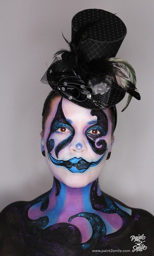 Adult clown makeup