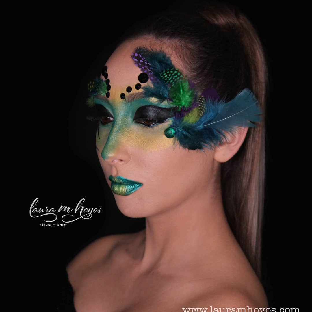 Peacock inspired creative makeup