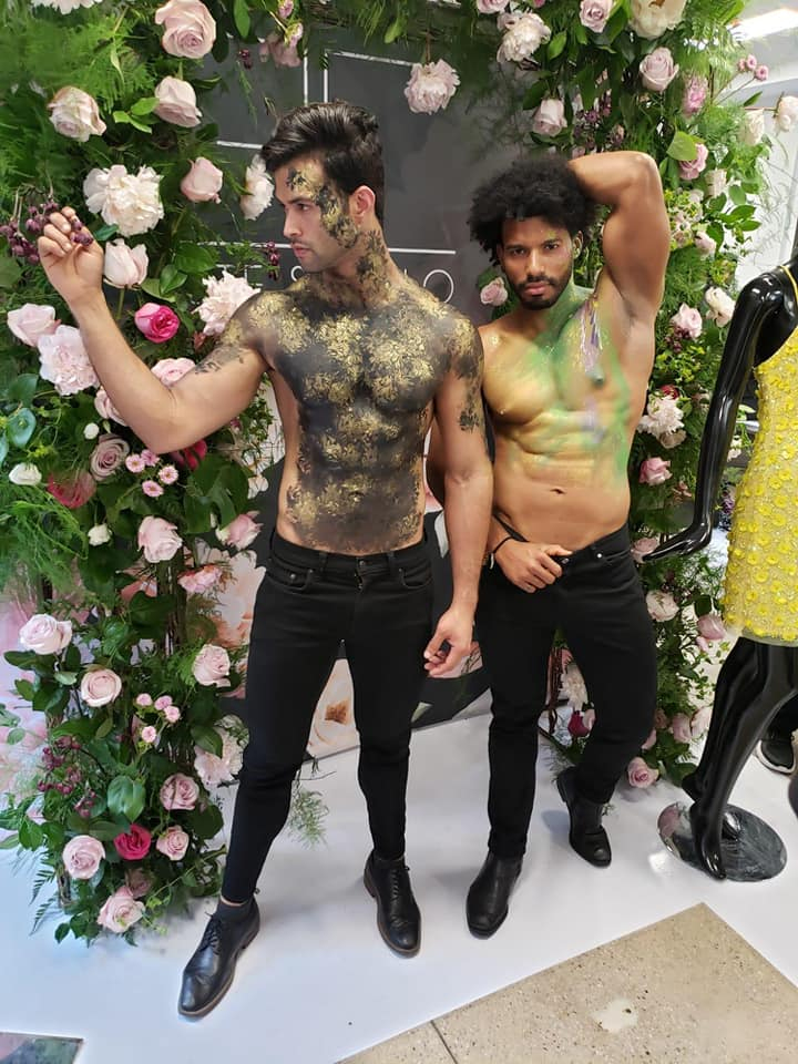 body painted male models