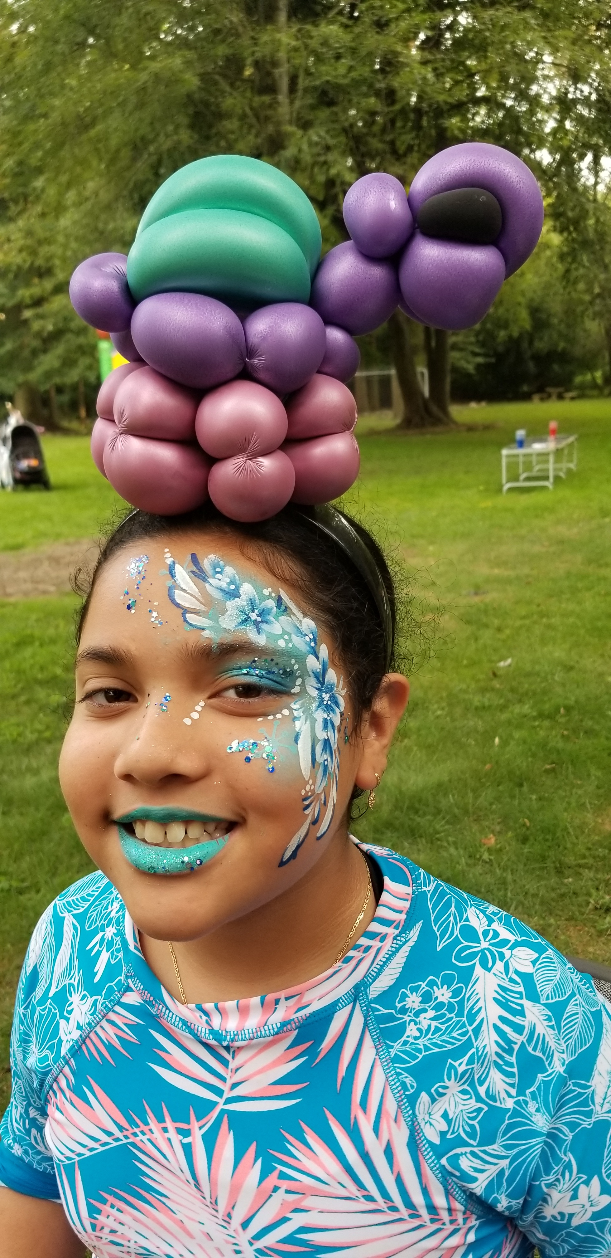 Balloons and face paint