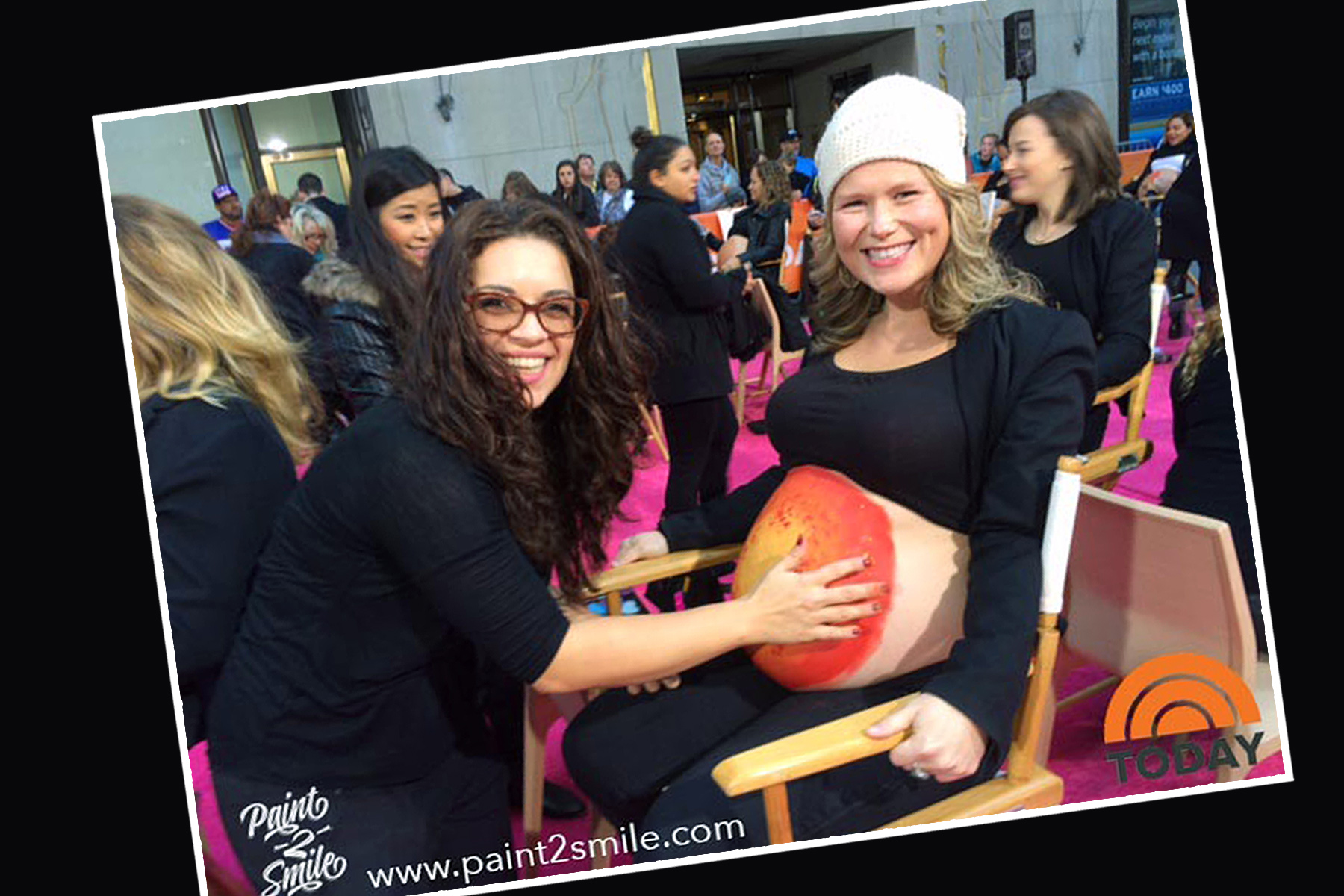 Today show bell painting for Sarah Blakely
