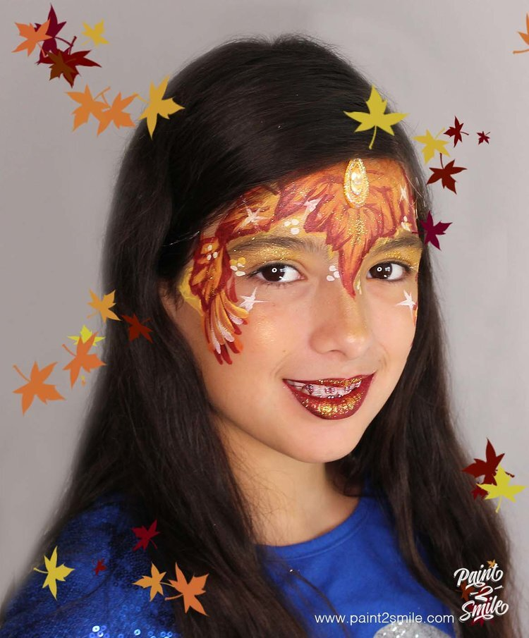 fall face paint