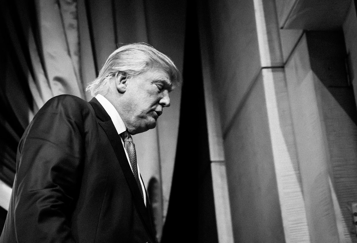 Donald Trump. Photo by Gil Lavi. Courtesy of the artist