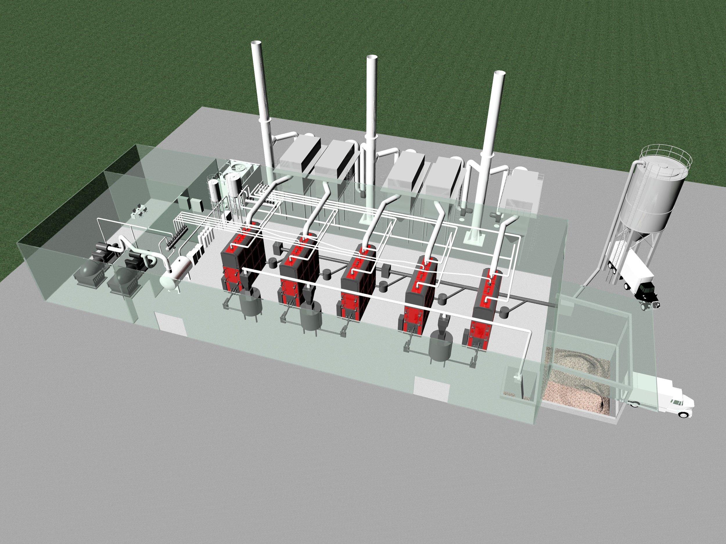 Modular 5 Mwe biomass Co-Gen plant.