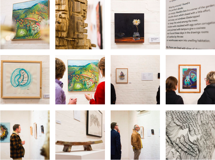 Images from the opening of Art for Poetry's Sake, 2016.