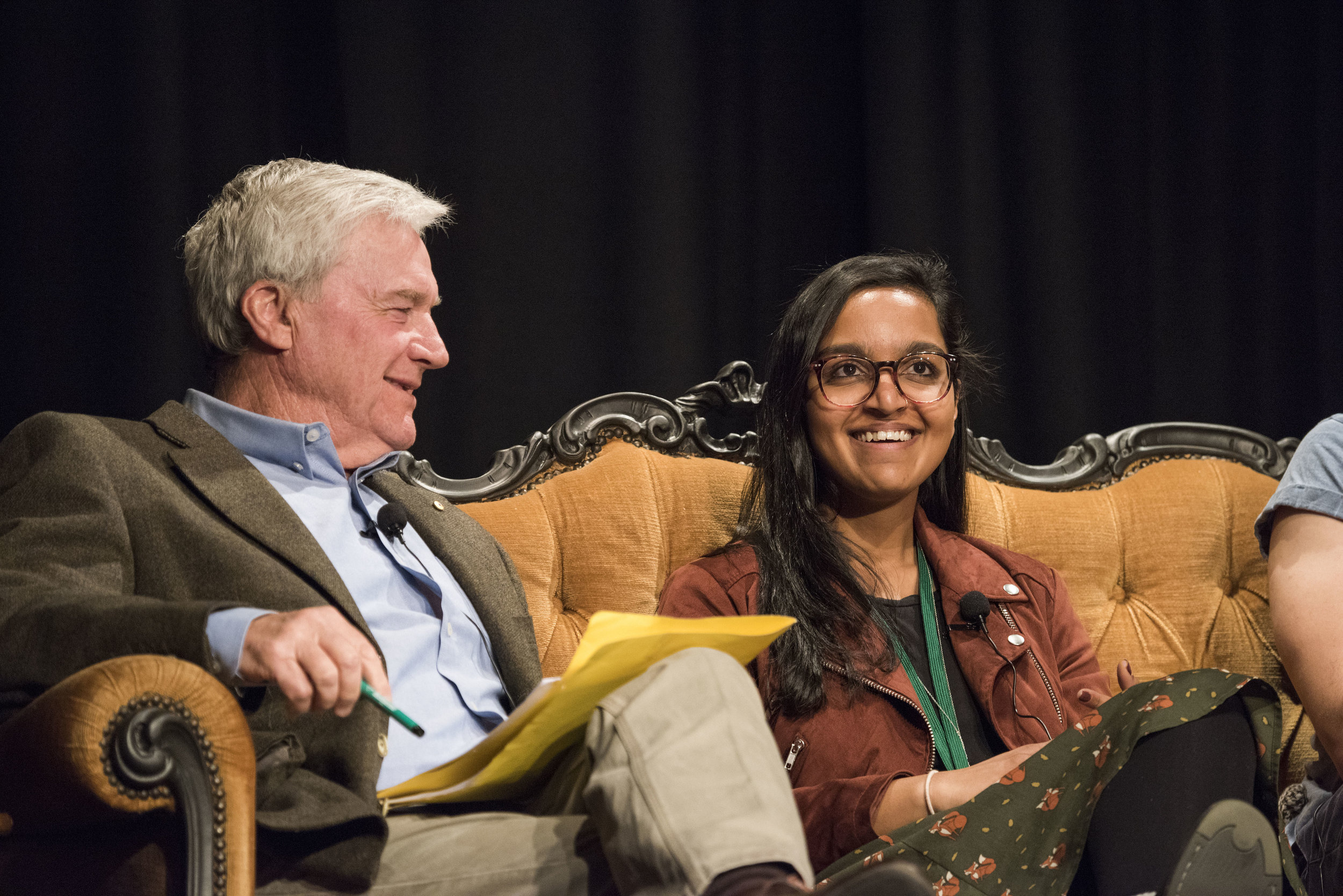 Mike Munro and Zoya Patel in Generation Me or Generation We