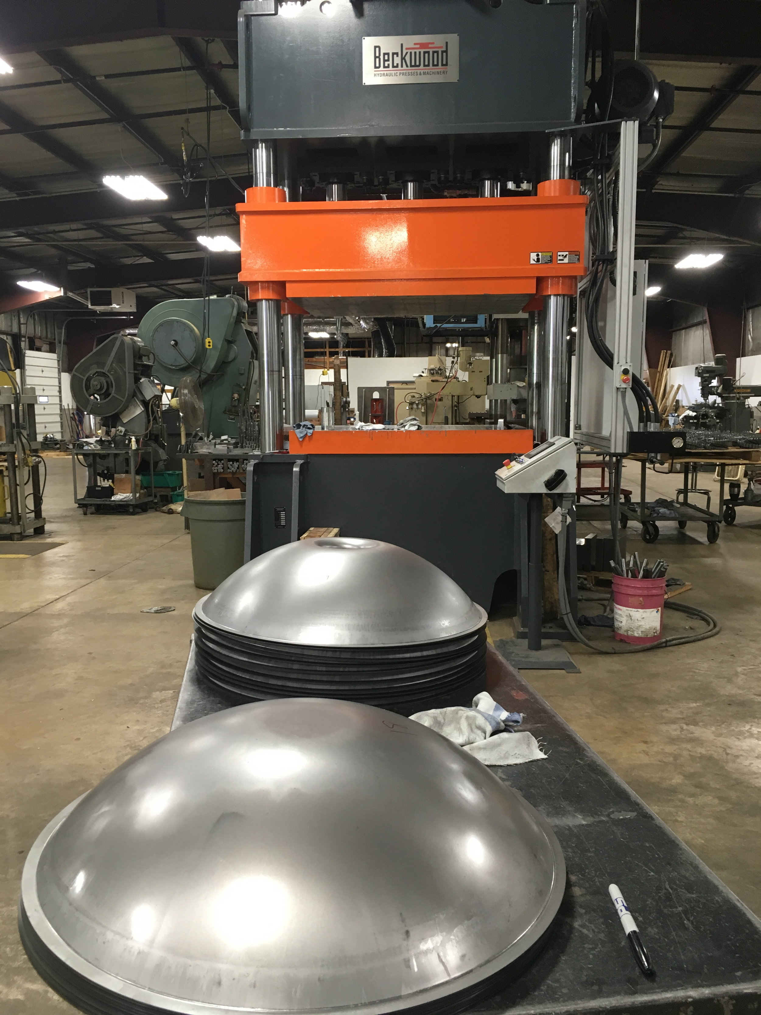 Our resulting and unique shell geometry, prior to nitriding.