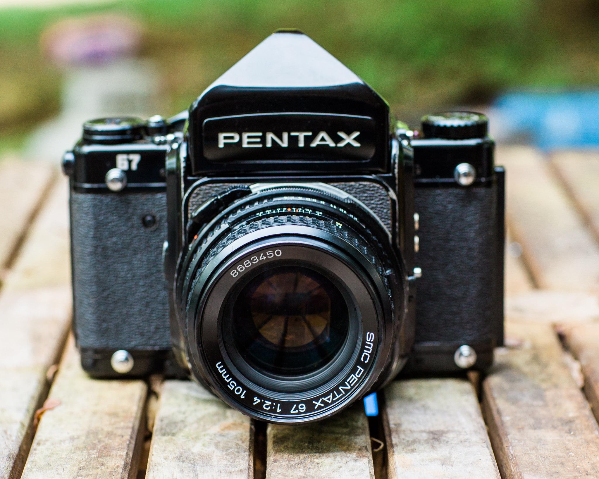 Pentax 67  Medium Format Film Camera with the Pentax 67 SMC 105mm f/2.4 Lens