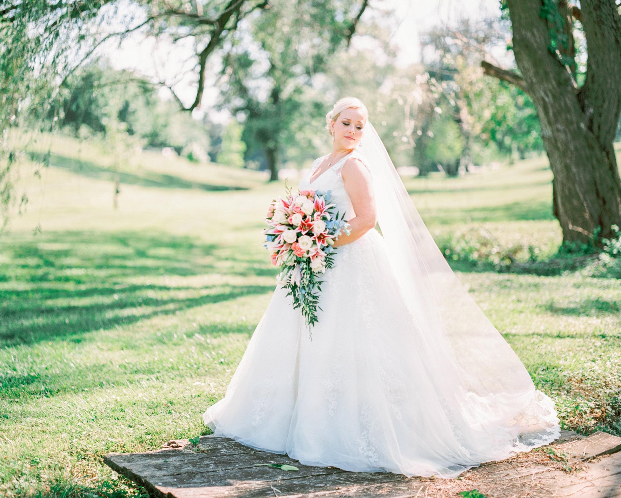bridal portrait at louisville ky wedding st agnes