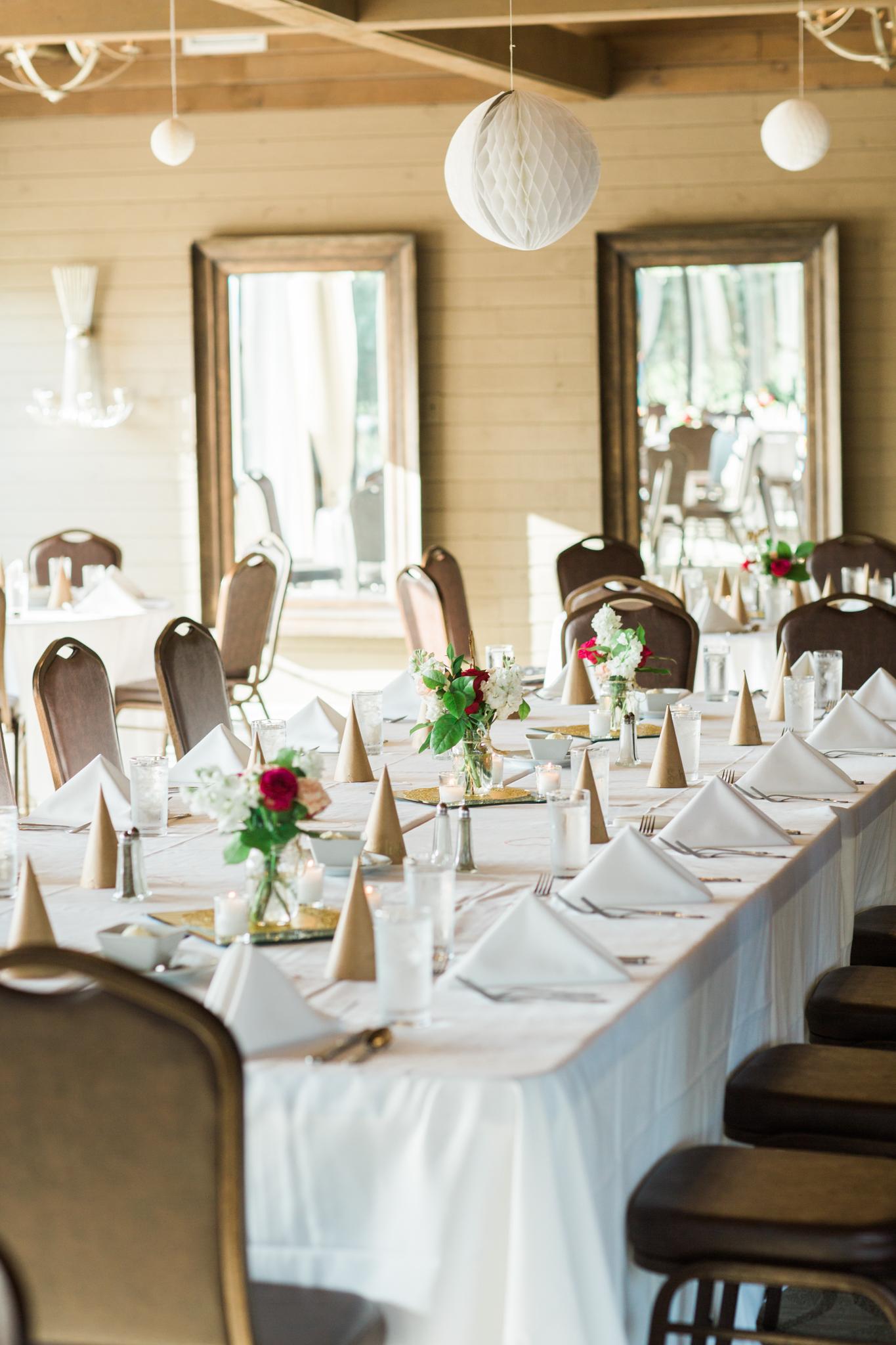 table at little turtle club wedding columbus ohio