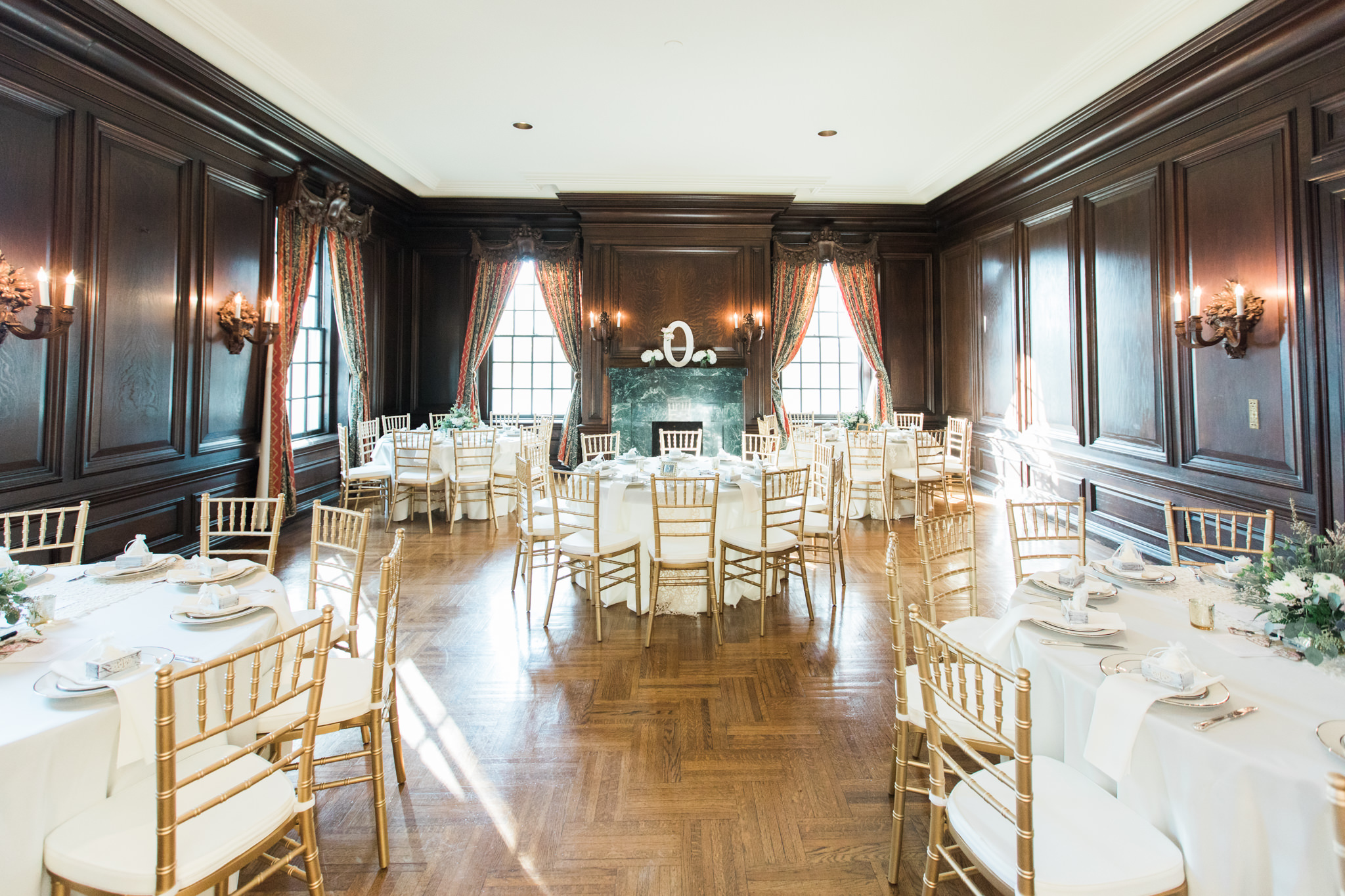 Brown room at Garden Court, a wedding venue in Louisville Kentucky