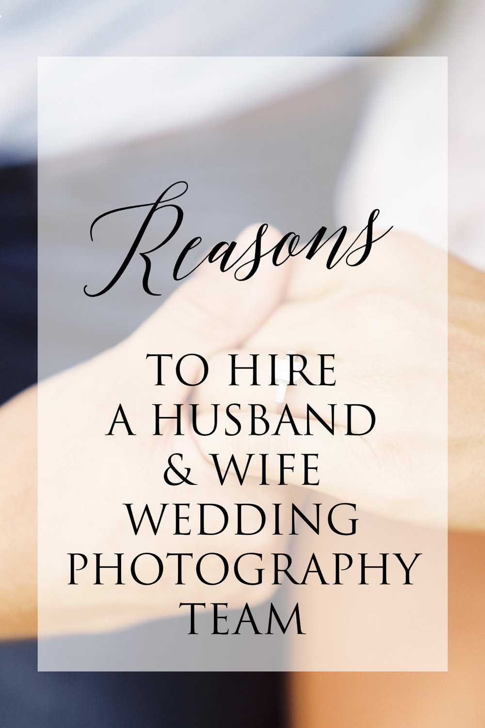 Reasons to Hire a Husband & Wife Wedding Photography Team - There are a few reasons why we think having a husband wife wedding photographer team is the very best option for many, many couples. Are we biased? Absolutely : )...read more
