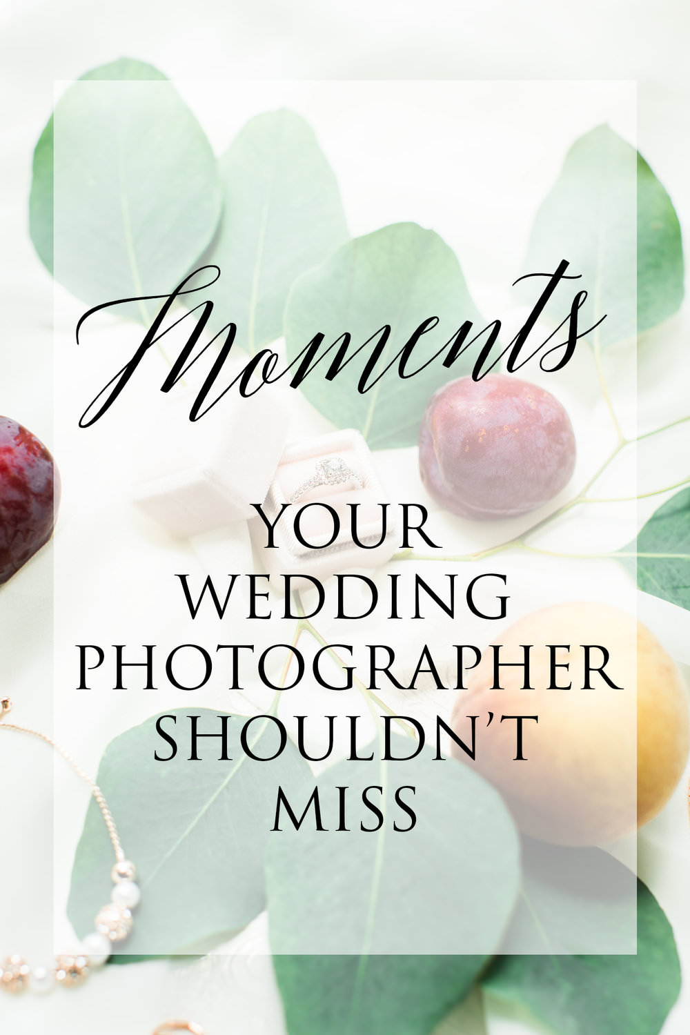 Moments Your Wedding Photographer Shouldn't Miss - Some of the following moments are probably obvious, but be sure to consider the ones you might not have thought about yet...read more