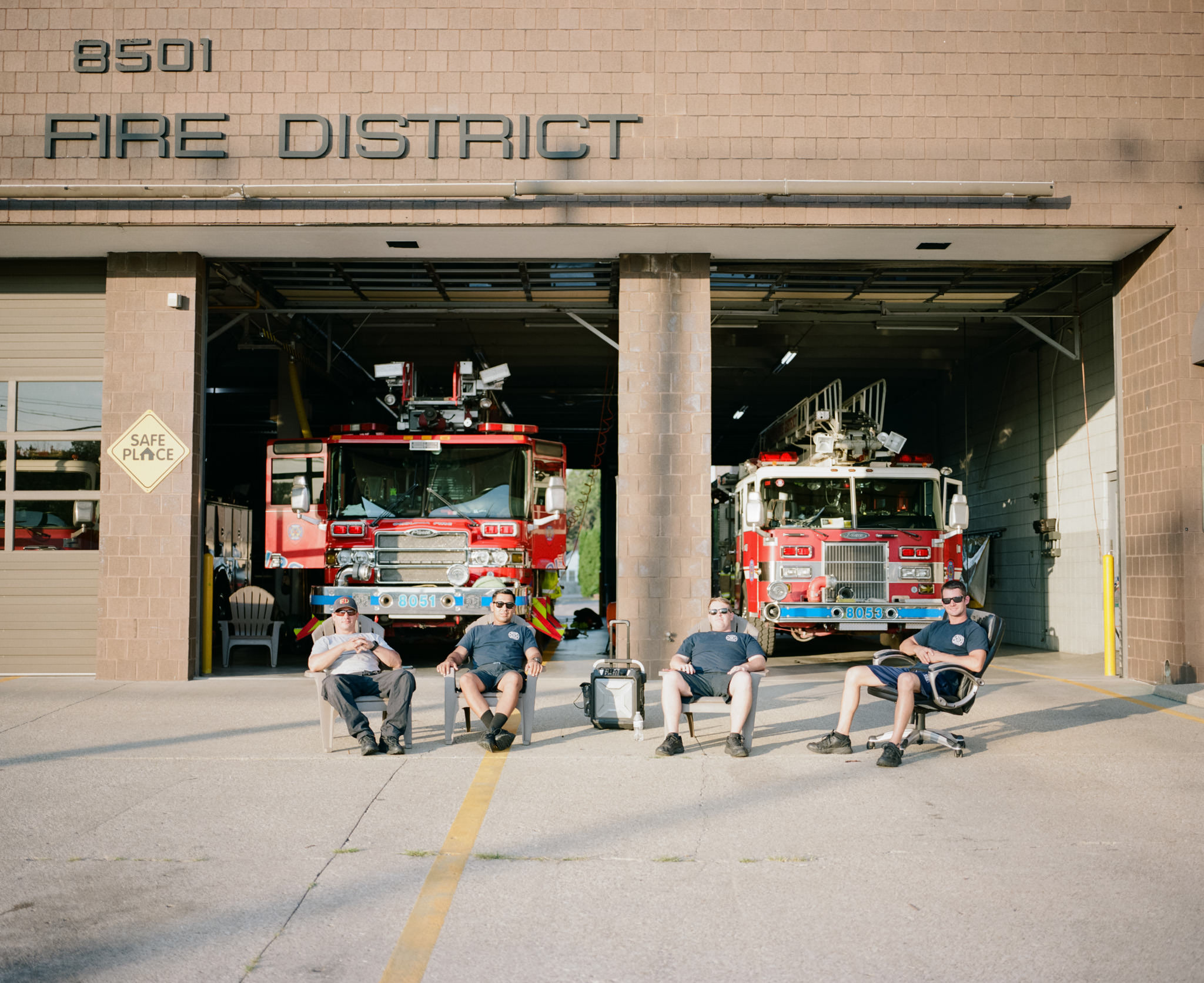 Image of Kentucky Firemen taken with the Mamiya 7 and 80mm f/4 lens