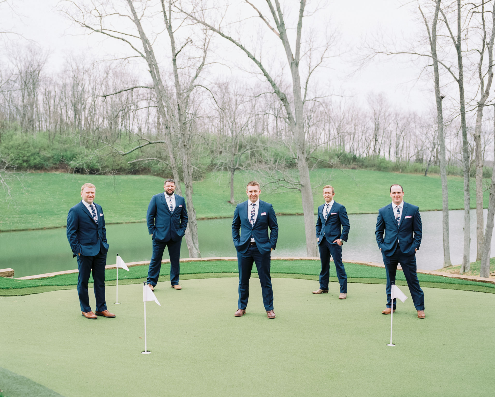 Image of groomsmen taken with Pentax 67 75mm f/2.8 AL lens on Pentax 67