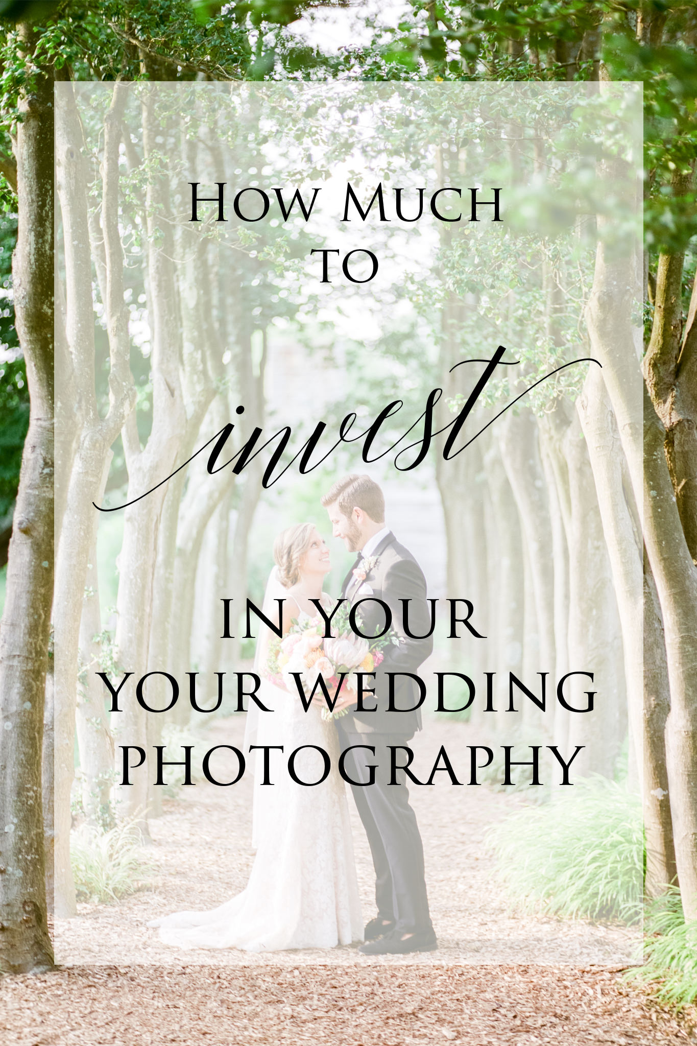 How much should I spend on wedding photography overlay