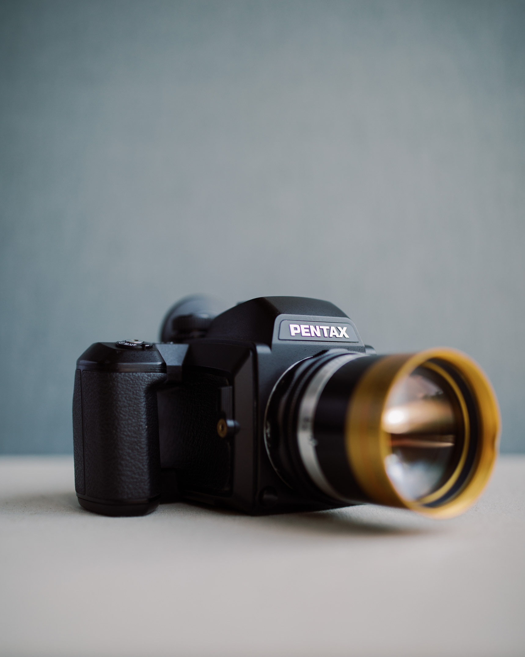Pentax 645nii with Schneider Cine-Xenon 120mm f/2 Projector Lens from  The Boutique Lens