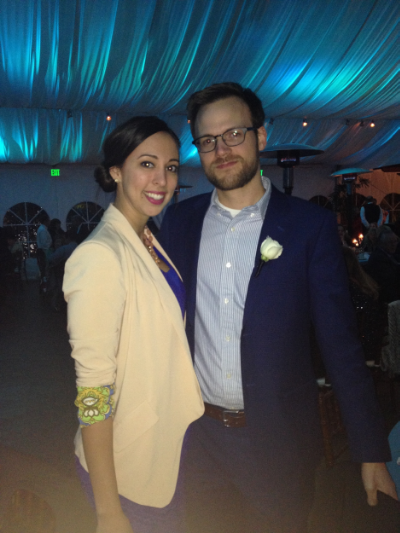 Here's a picture of us at our friend's wedding reception. It's the last picture we have of our family of 2!