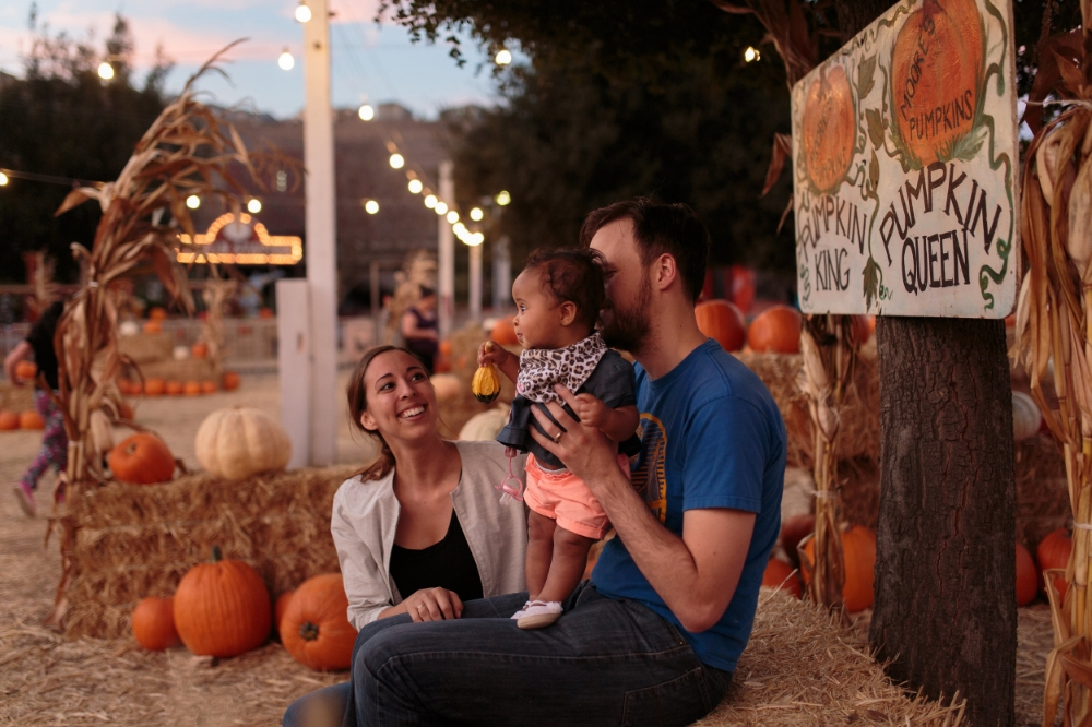 Our little adoptive family.Special thanks to  Kandace Photography  for catching some great moments at the pumpkin patch with Baby Girl.