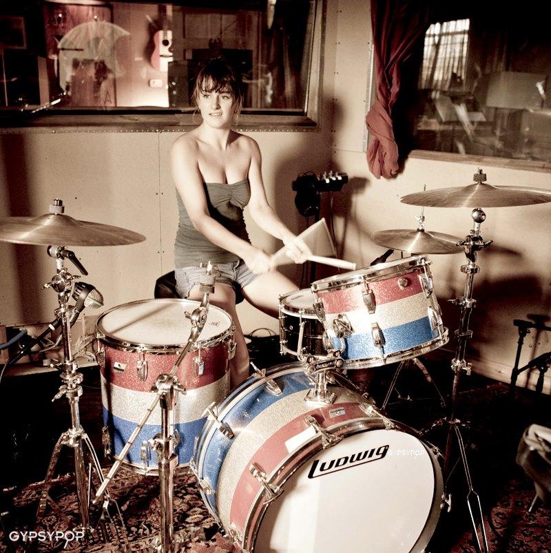 Tory Elena playing 66 Ludwig kit - recording for Atlas