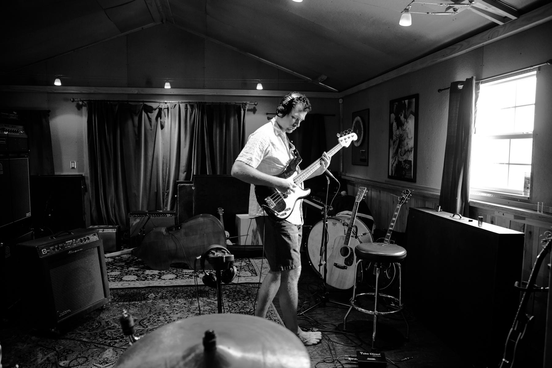 Daniel Budiansky laying down some phat bass. Rock n' Roooooolllll!