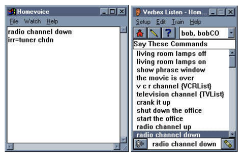 HomeVoice software. Image from HomeToys.com