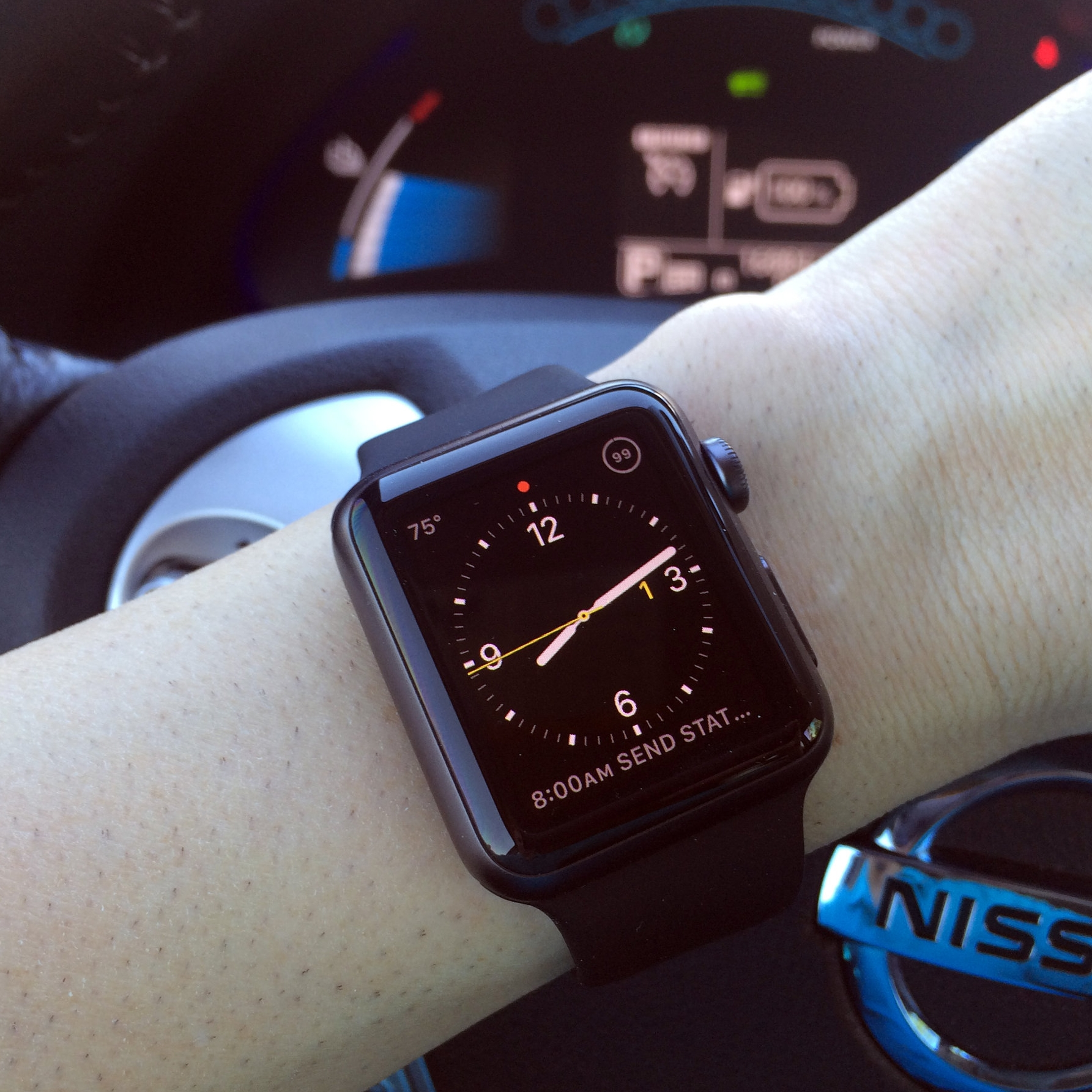 My 38mm Sport Space Gray with matching black Sport band