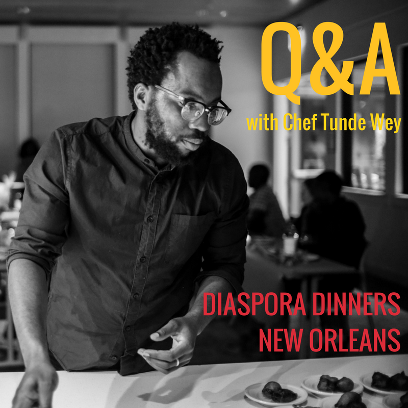 Chef Tunde Wey @ AiD #DiasporaDinners (May 31, 2017)