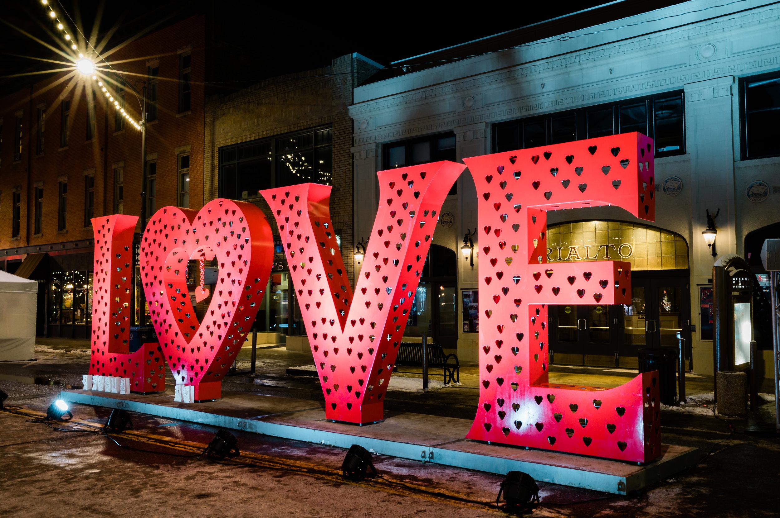Love Lock Sculpture, Loveland Colorado