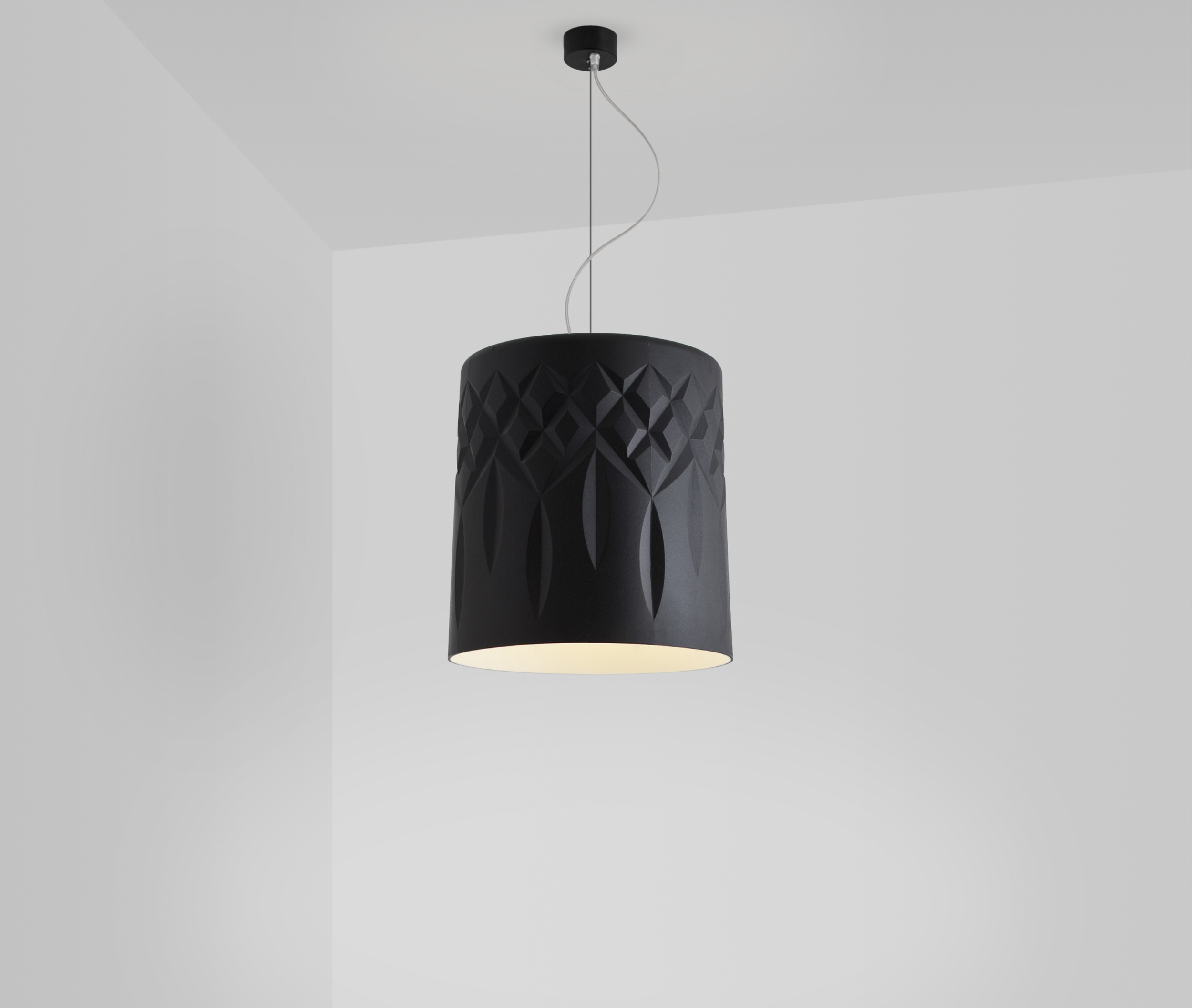 Glass Collection Crystal Pendant in black