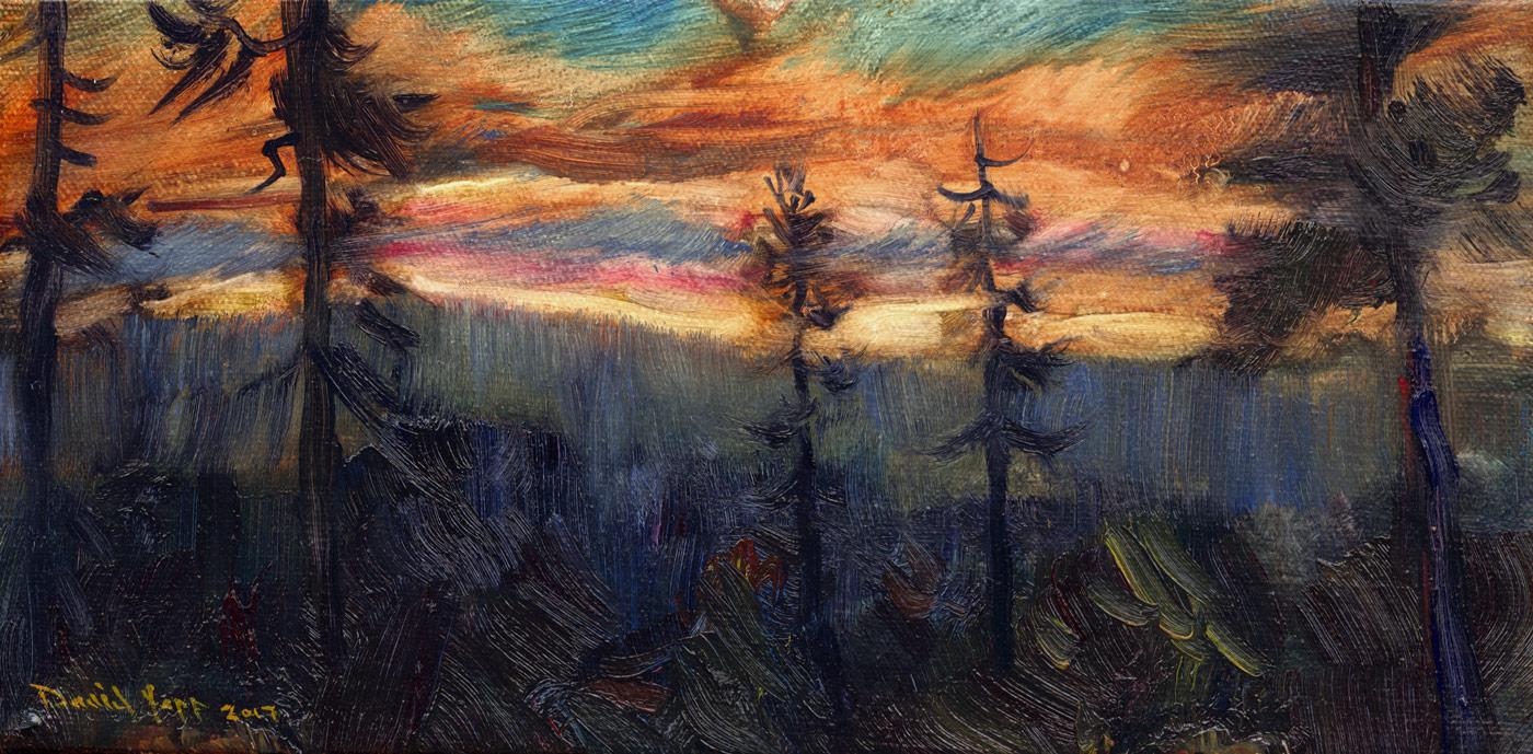 Iron Mountain Sunset Panorama
