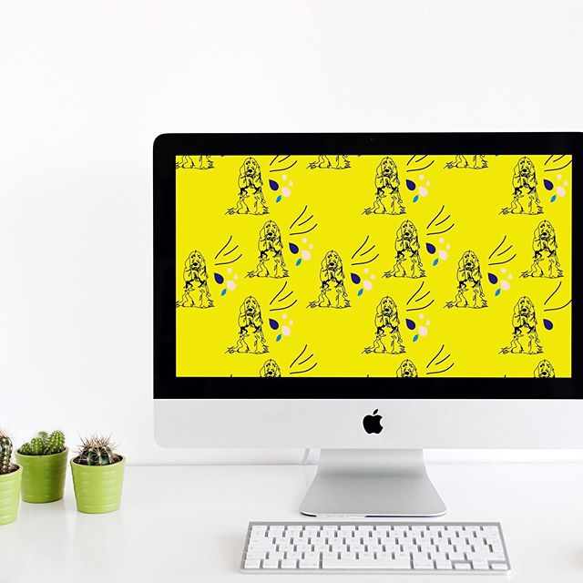 🐶💻🖥💕 It's been a while between drinks, but new #freedesktopwallpaper up now on the site. Inspired by the greatest studio-dog of all time. 👉link in profile #desktop #doglover #free #freedownload #designbytoonice #fromordinarytoextraordinary #embracingmyinnercrazydoglady #lovewhatyoudo #enjoy #sharethelove #dogsofinstagram