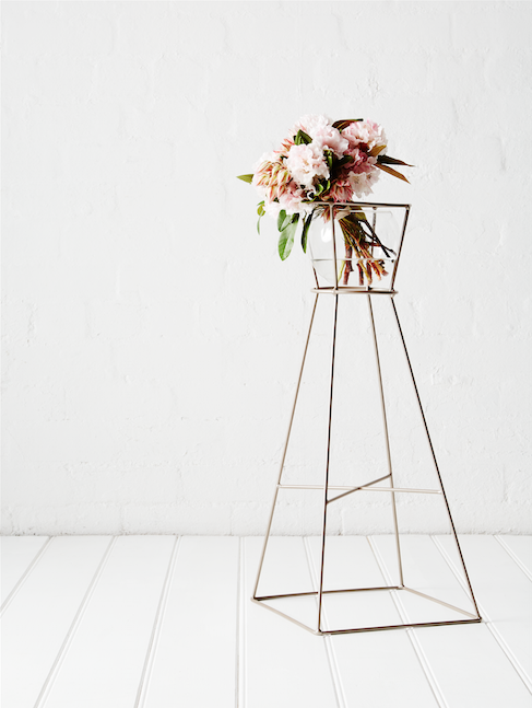 The Classic  - The Classic is suited to a wide range of botanical vessels including smaller pots, vases and plant bags. It also features a lower cross bar which can house another plant or can be used as a display shelf for books, trinkets etc