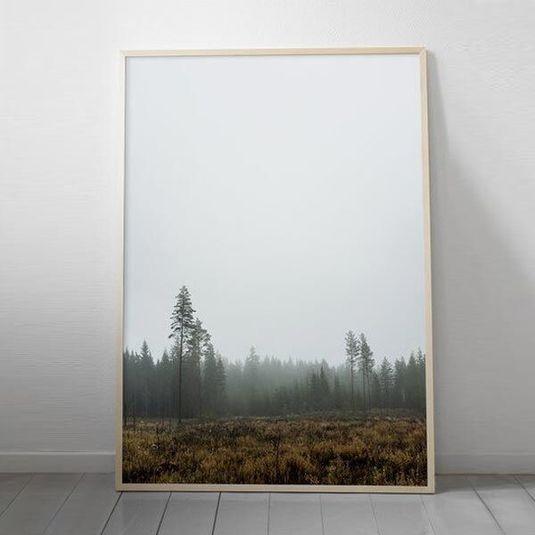 Scandi Winter Forest print