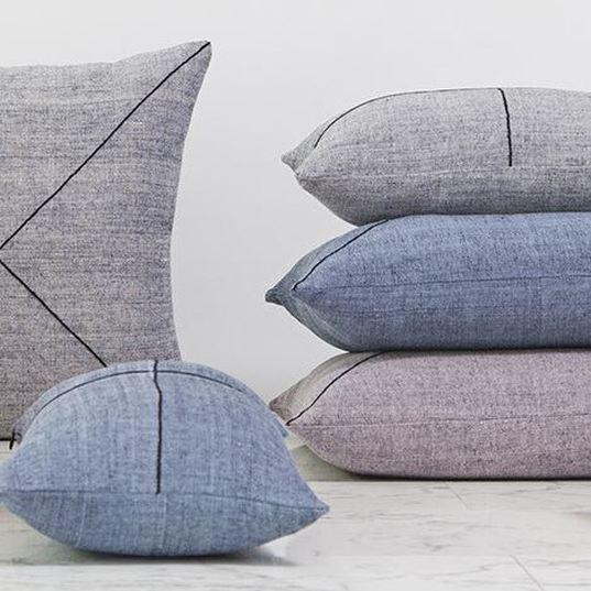 Grey Winter Cushion