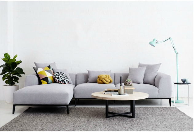 The Danielle Grey Fabric Modular Sofa
