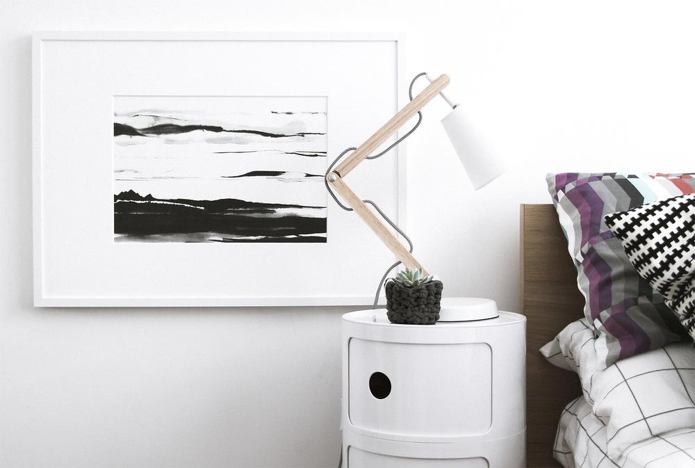 Mini Grandi Artist -  Linear Haze A3 Print $30.00