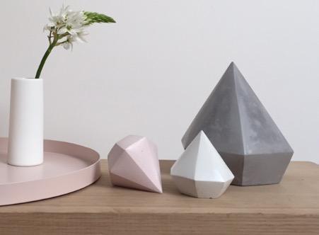 Raw Luxe Interiors -  Ms Fenty Concrete Diamonds $15.00