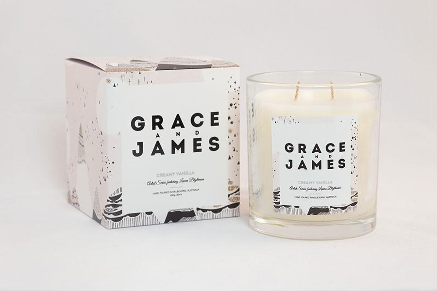 Grace & James -  Creamy Vanilla Candle - $59.95