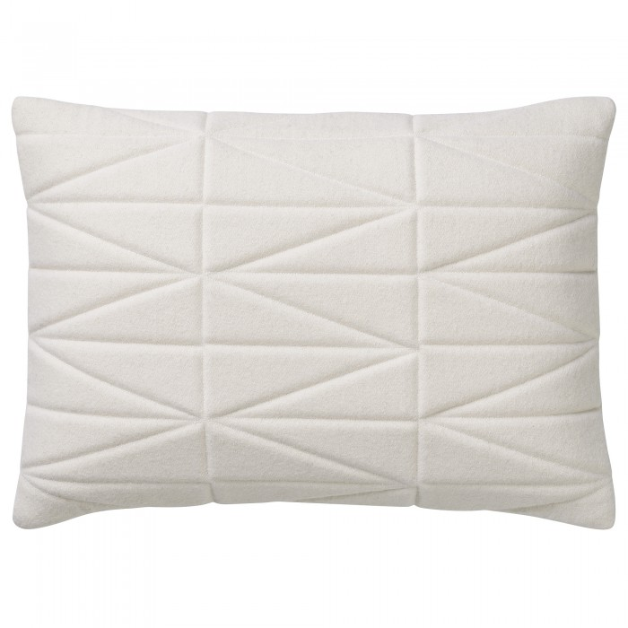 BLOOMINGVILLE  Quilted Wool Cushion Off-White - $99