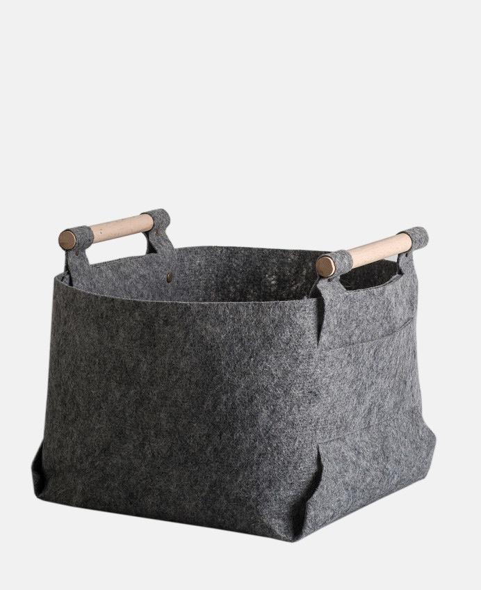 Fresh Cut Interiors -  Large felt basket - $80