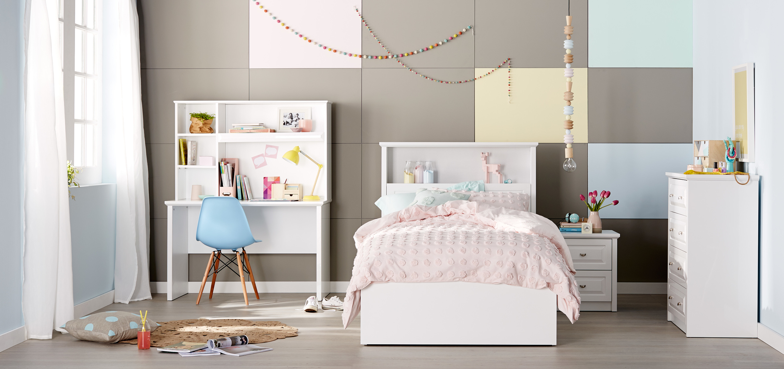 Odyssey  - If you're on the look-out for a teen bed with plenty of storage, then the Odyssey is the one for you, featuring a gas lift base, an in-built bed head nook and an under-bed box to keep those hidden gems tucked away. Odyssey King Single Bed: From RRP $1,249