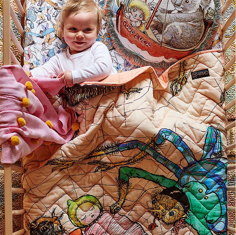 MAY GIBBS X KIP&CO ALL WRAPPED UP COT QUILT