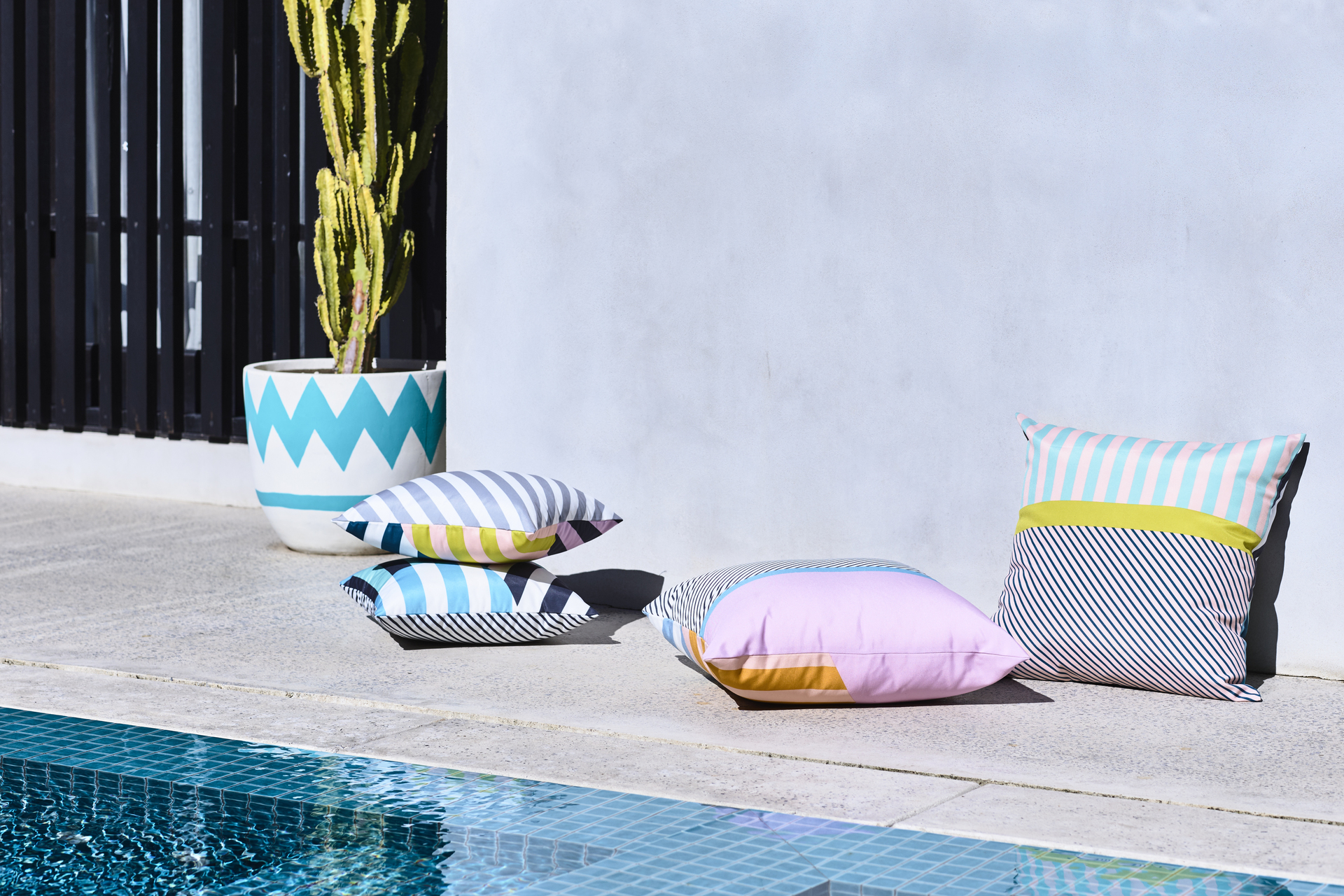 Rebecca Judd Loves Home Republic Cancun Cushions 45x45cm $59.95ea | 60x60cm $89.95ea